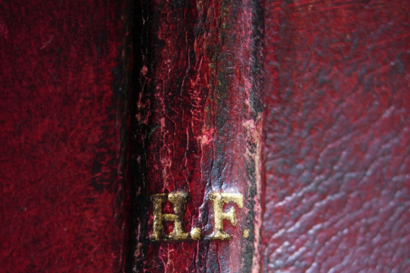 Horace Finaly, Banquier, initiales en or sur copie de Duncan Fraser, Newton's Interpolation, Florence, Bibliothèque de Sciences
