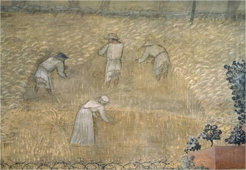 Le Bon Gouvernement par Ambrogio Lorenzetti, XIV Siècle, Siena, Italie.